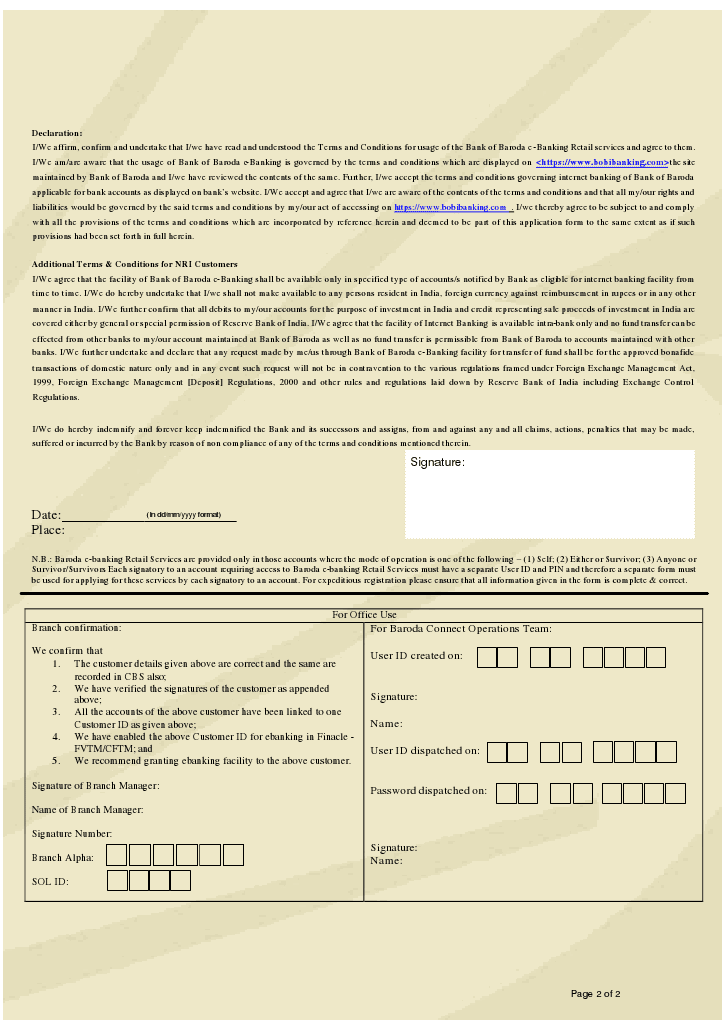 online application form of bank exam