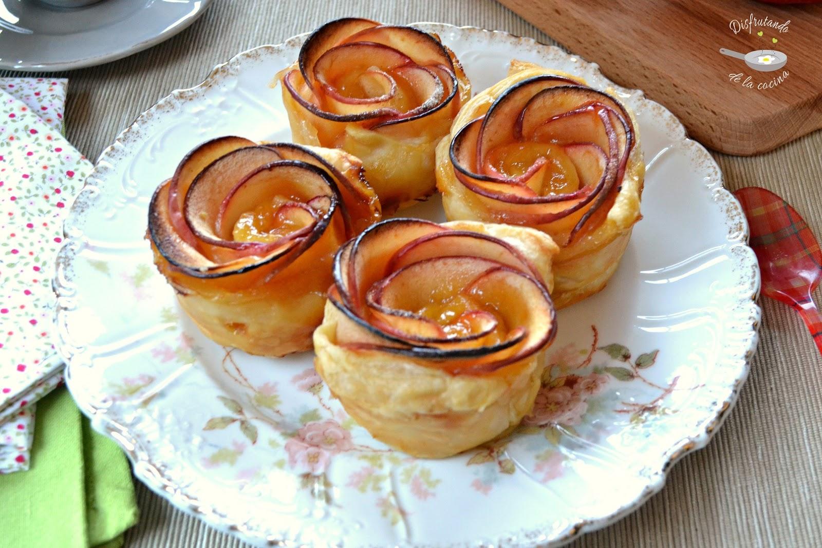 Rosas de manzana y hojaldre (Postre fácil)