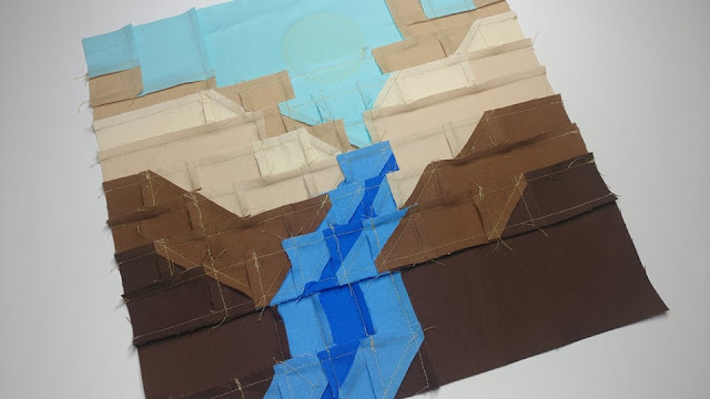 Behind the seams of the canyon quilt block