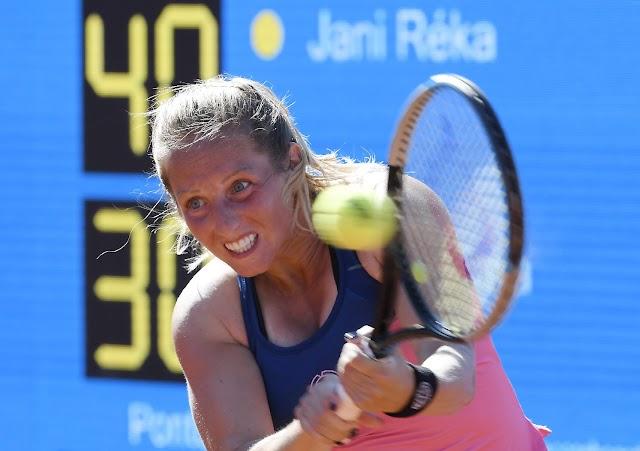 Az első fordulóban kiesett Jani Réka a palermói salakpályás női tenisztornán