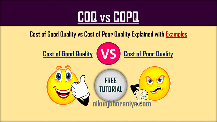 Cost of Quality vs Cost of Poor Quality  COQ vs COPQ