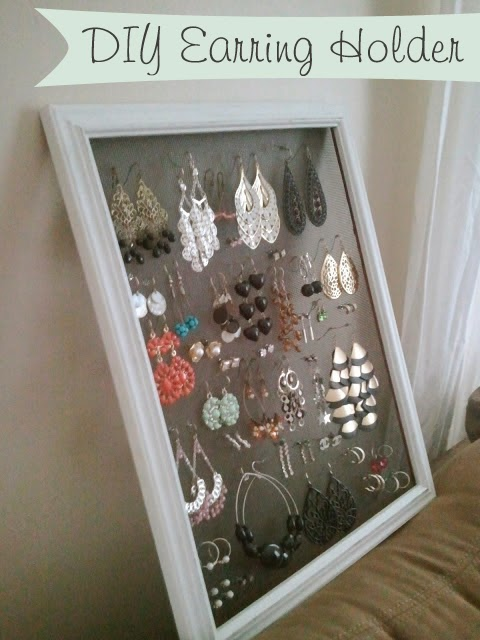 This Little House of Mine: Pinterest Project: DIY Earring Holder