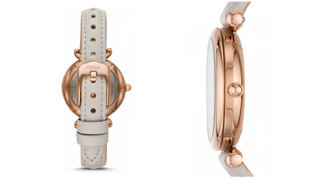 Harga jam tangan Carlie Mini Three-Hand Mineral Gray Leather Watch.png