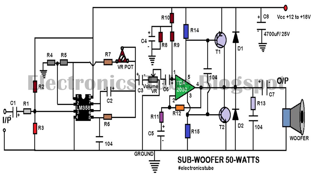 Homemade 4.1 Amplifier Circuit Diagram using TDA2030