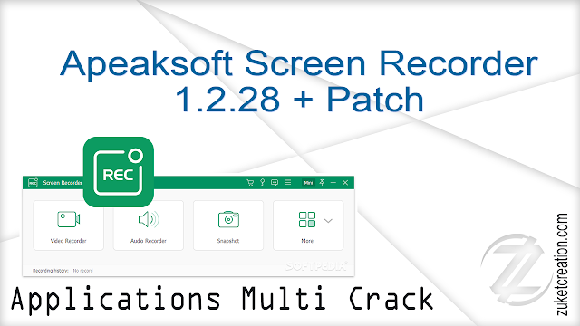 Apeaksoft Screen Recorder 1.2.28 + Patch    |  45 MB