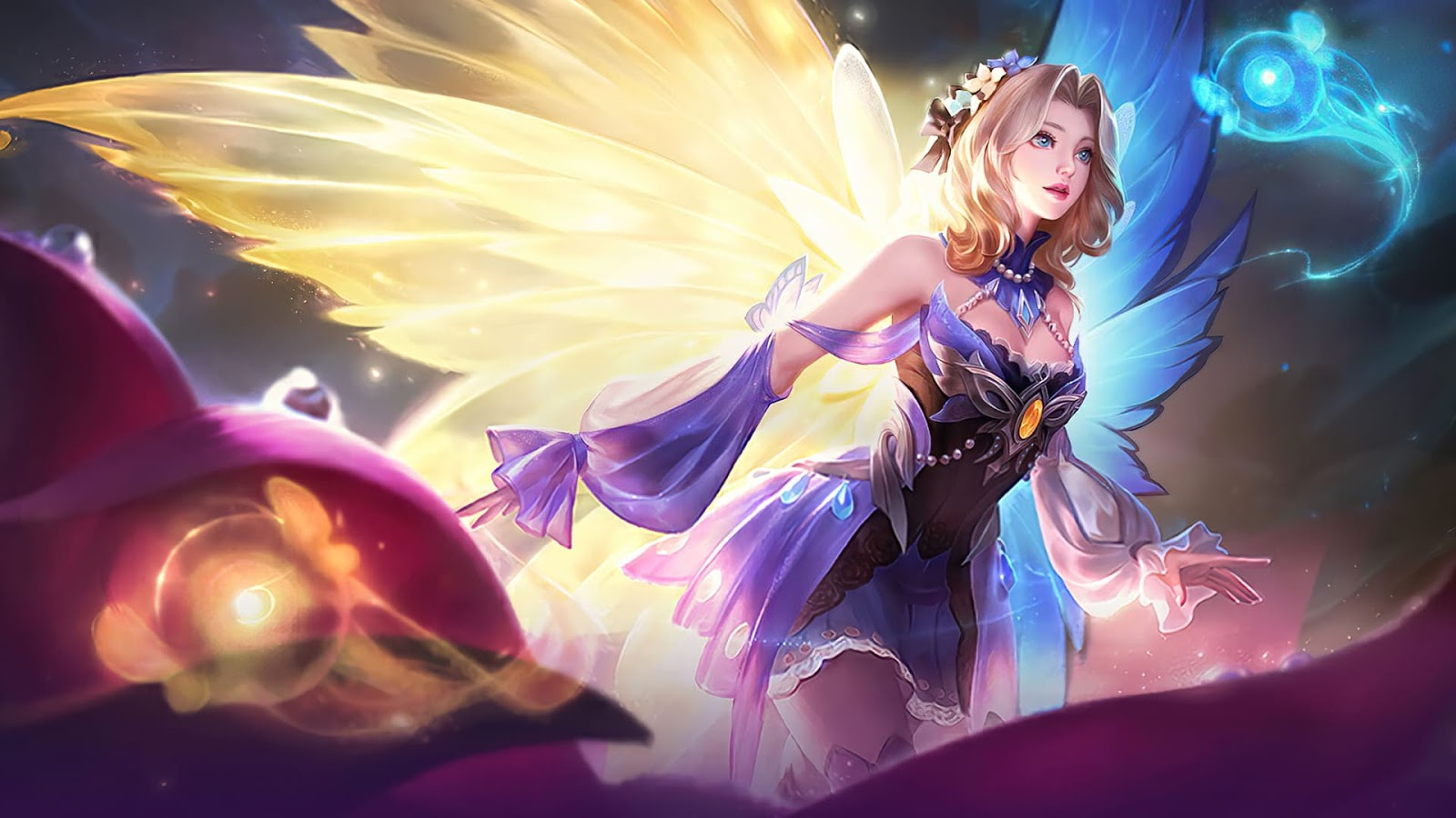 Wallpaper Lunox Butterfly Seraphim Skin Mobile Legends Full HD for PC