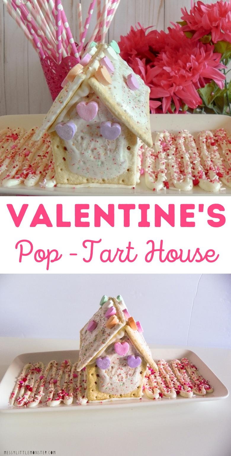 Valentine's treat for kids. Homemade pop tart house.