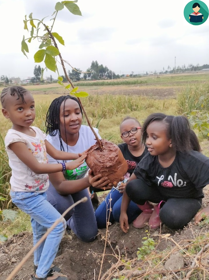 Teach children how to plant a tree