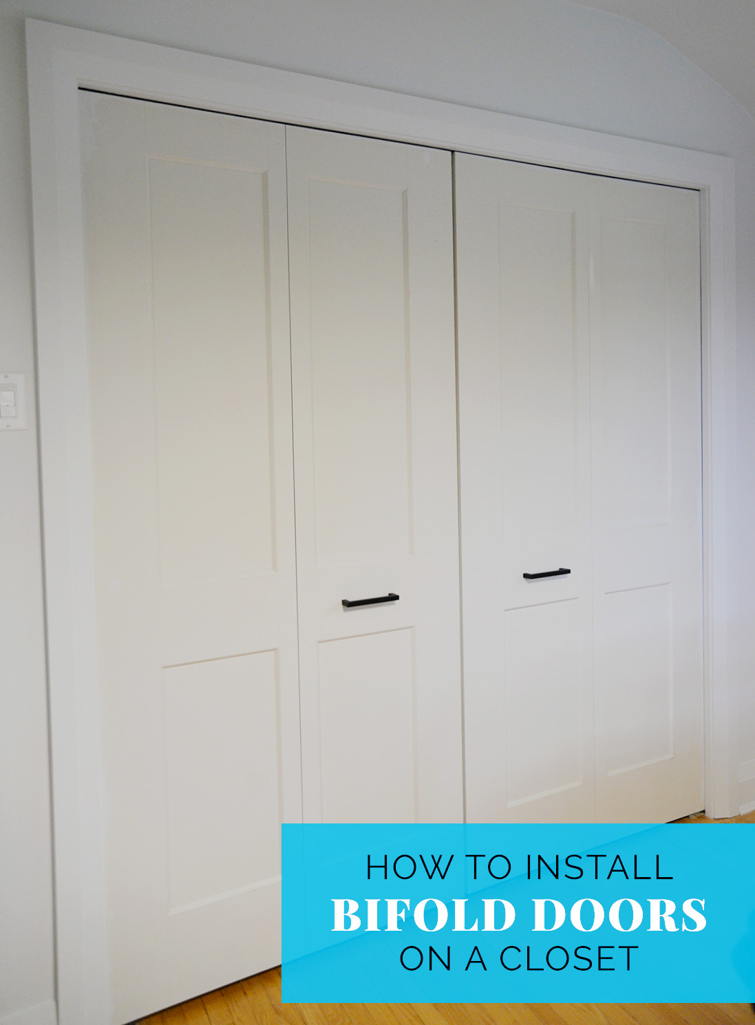 bifold closet door handle, how to install a bifold closet door, bifold closet door instructions, bifold knob placement