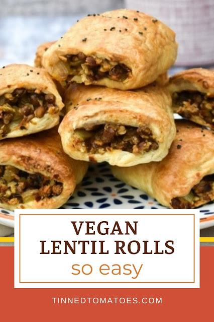 Spicy Lentil Sausage Rolls