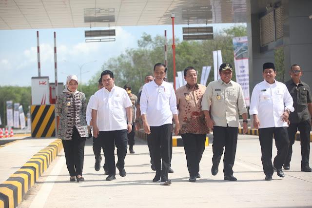 Herman Deru Dampingi Jokowi Resmikan Tol Terpanjang di Tanah Air