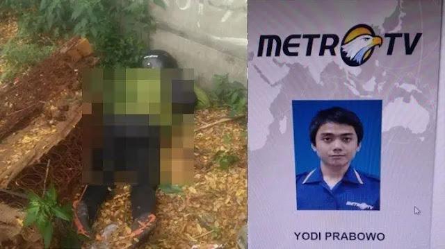 Yodi Prabowo Editor MetroTV Diduga Dibunuh, Ada Bekas Luka di Bagian Dada