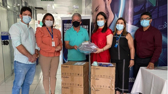 Combate à Covid-19 Prefeitura de Patos recebe doações de capacetes Elmo do SESI-PB