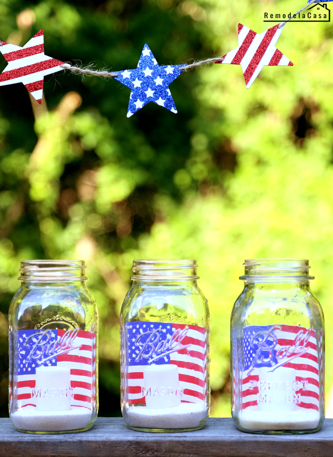 red, white and blue home decor ideas