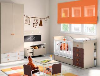 Habitación beige bebé