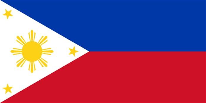 Bayrağında sarı renk olan ülkeler Filipinler bayrağı