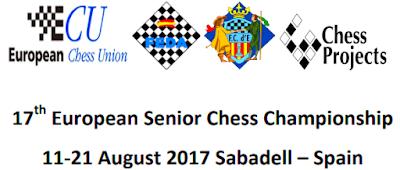 Cartel de XVII European Senior Chess Championship