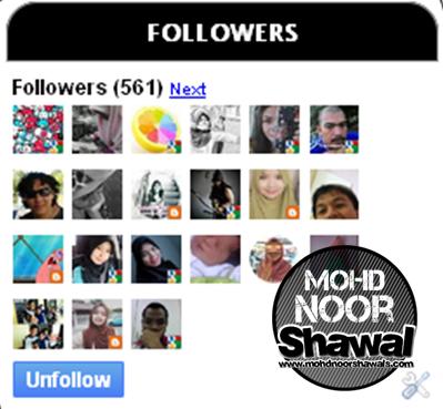 Tutorial : Add Widget Follower Ke Dalam Blog