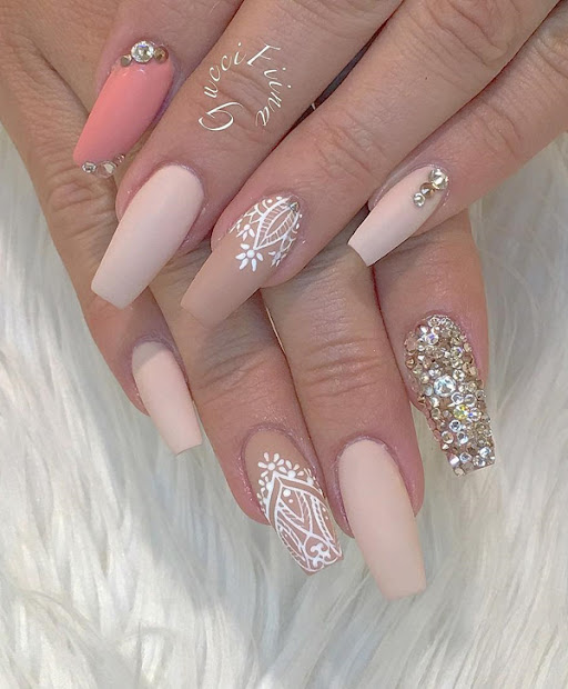 rhinestone nail art ideas