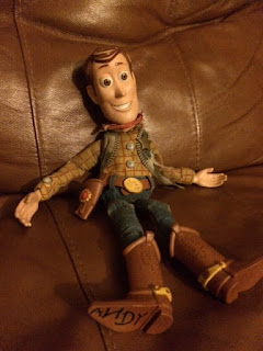 Autistic child's Woody doll