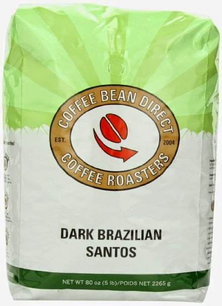 Dark Brazilian Santos Whole Bean Coffee