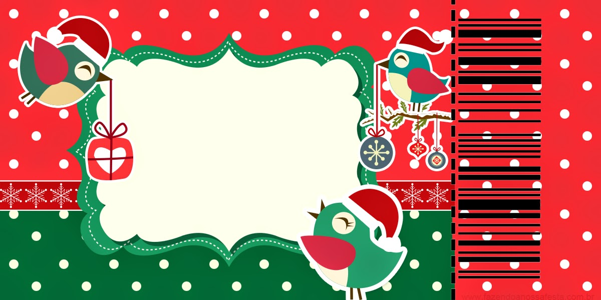 Christmas Birds Free Printable Invitations or Cards Oh My Fiesta