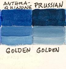 Anthraquinone and Prussian blue comparison.