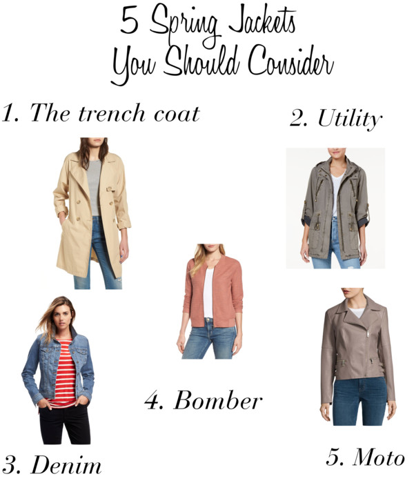 5 Spring Jackets You Should Consider