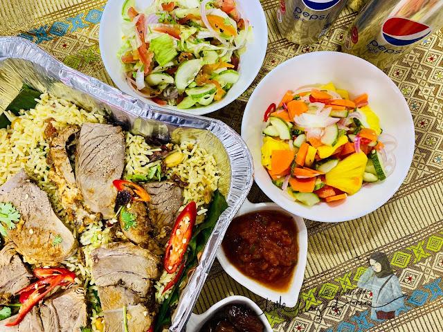 lamb mandi combo set bazar makan-makan stay home takeaway renaissance johor bahru hotel