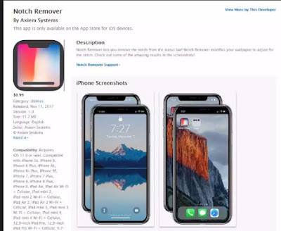 Download The iPhone X 'Notch Remover' App is Now on  App Store  From Here