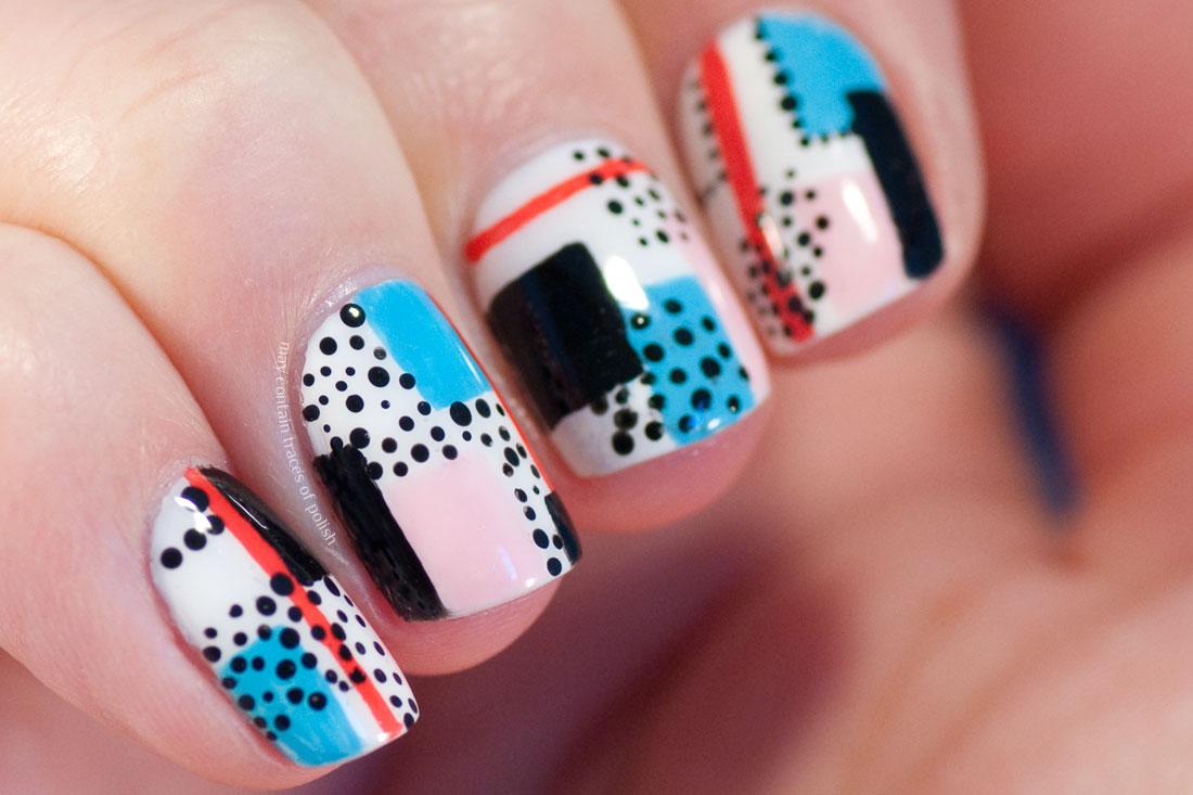 90's Style Nail Art Design