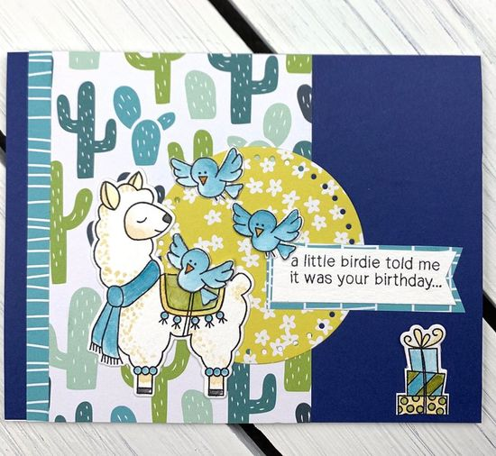A little birdie told me by Kimmie B. features Llama Delivery and Newton's Birthday Flutter by Newton's Nook Designs; #newtonsnook