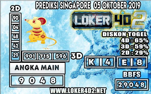 PREDIKSI TOGEL SINGAPORE LOKER4D2 05 OKTOBER 2019