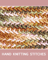 Learn Herringbone Twist Pattern with our easy to follow instructions at HandKnittingStitches.com