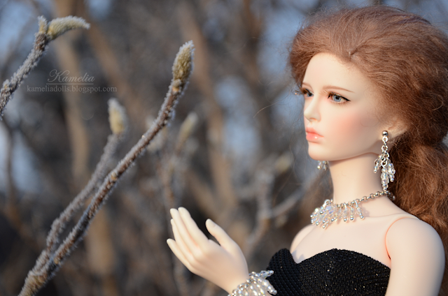 Crystal necklace for Raccoon Doll