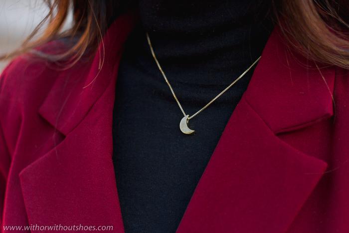 collar Colgante oro dorado luna Leontina Alascio