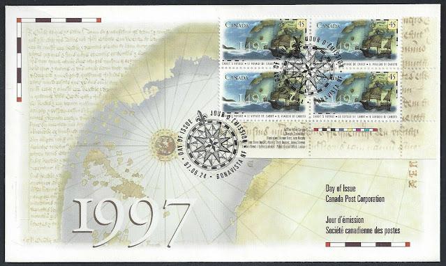 Canada John Cabot 1997 FDC