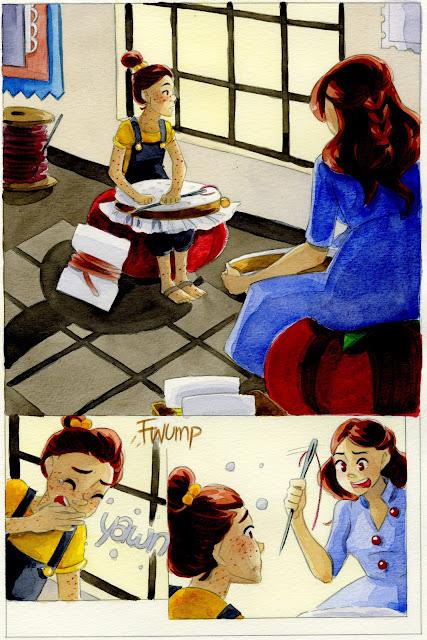 "watercolor, kidlit comic, comics for kids, watercolor comic, beautiful comics for kids, 7"" Kara, 7 Inch Kara"