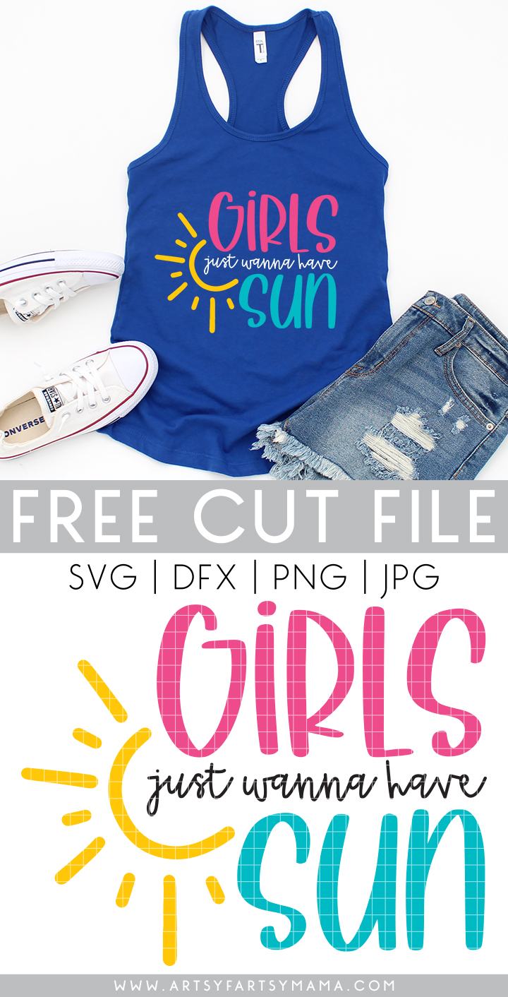 """Free """"Girls Just Wanna Have Sun"""" Cut File"""