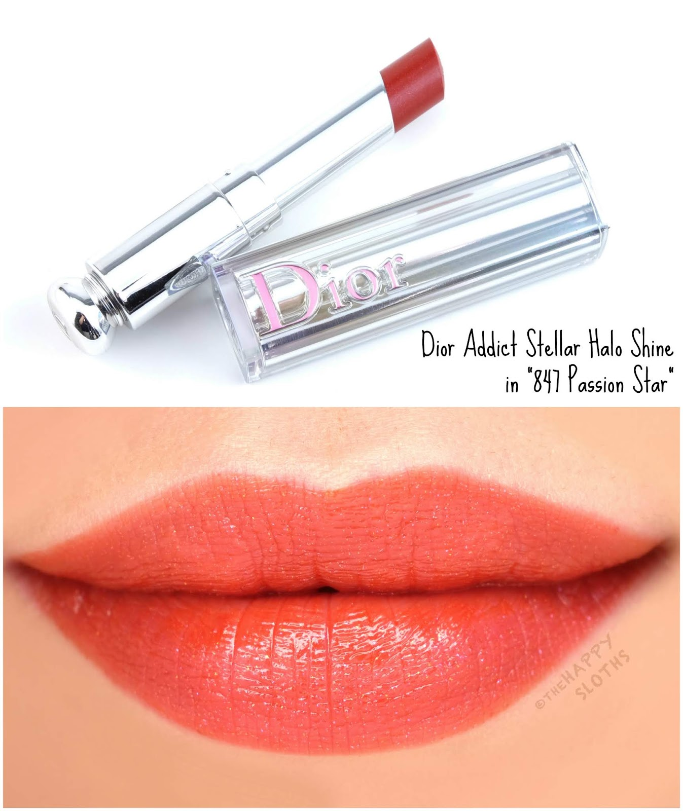"Dior | Dior Addict Stellar Halo Shine Lipstick in ""847 Passion Star"": Review and Swatches"