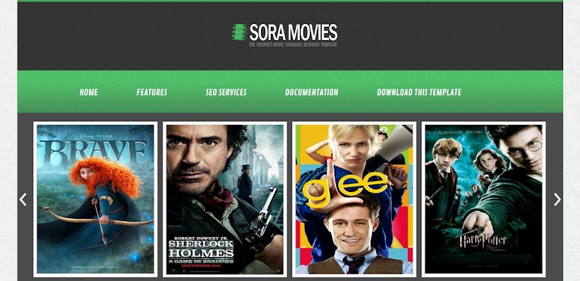 Sora Movies Free Blogger Template