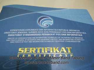 Sertifikasi Booster 2 Meter Band Tabung VHF