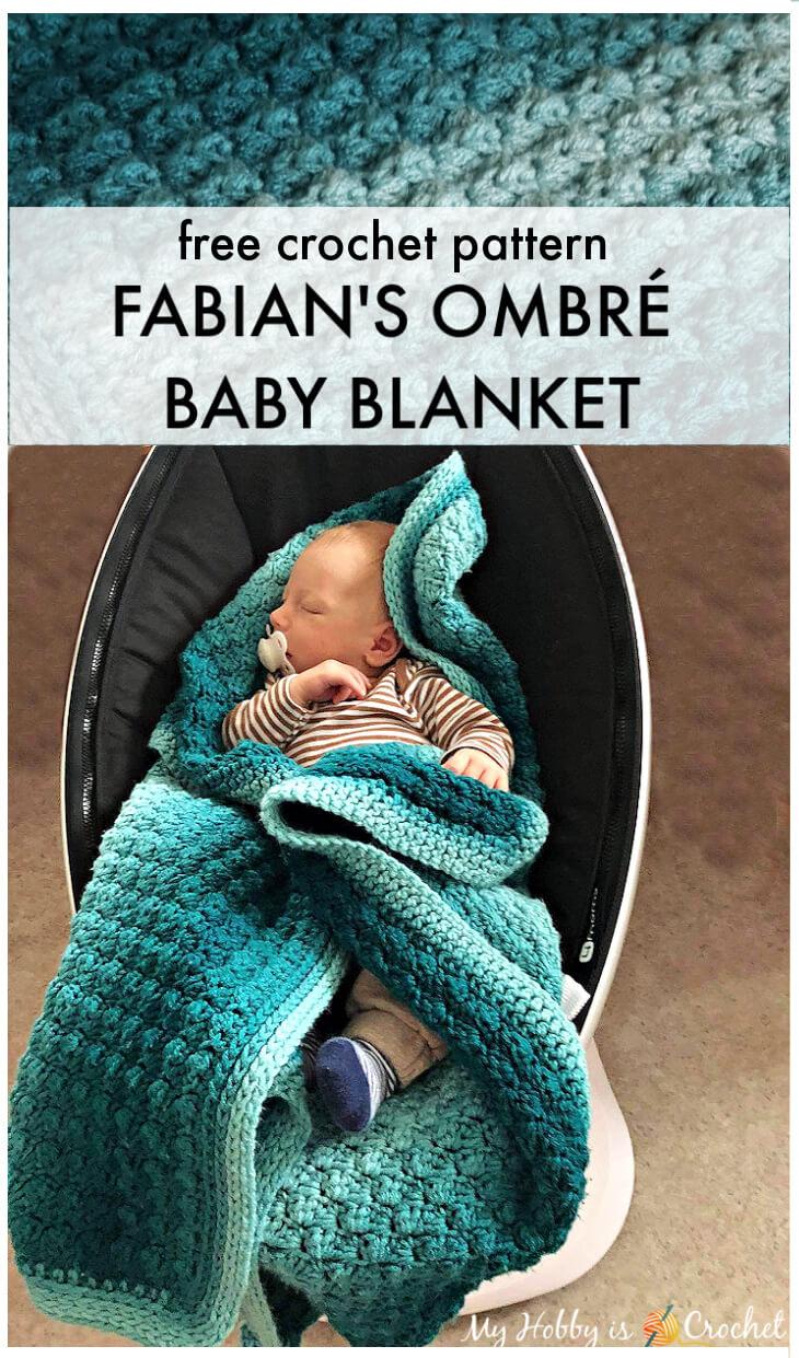 Crochet Fabian's Ombre Baby Blanket
