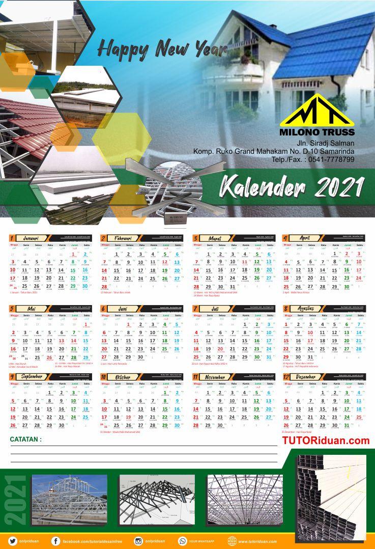 Format Kalender 2021 Psd