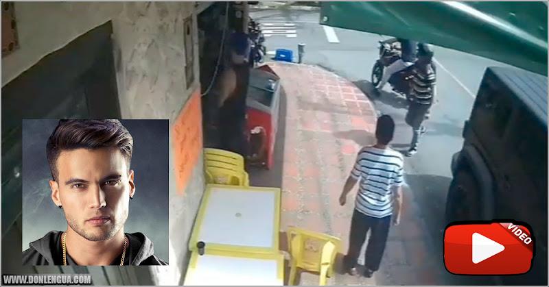 Aparece video del asalto al reguetonero Gustavo Elis en Medellín
