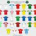 Confira todas as camisas titulares das seleções da Copa do Mundo de 2002