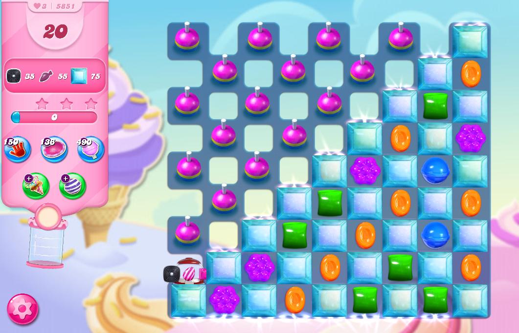 Candy Crush Saga level 5851