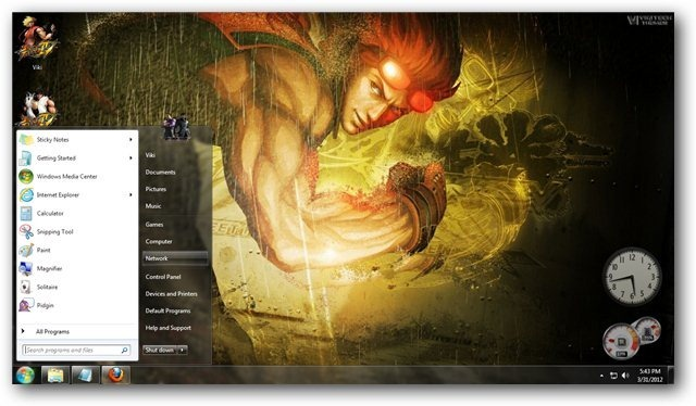 FREE VIEW TRICKS: BEST THEMES FOR WINDOWS 7 - Street Fighter