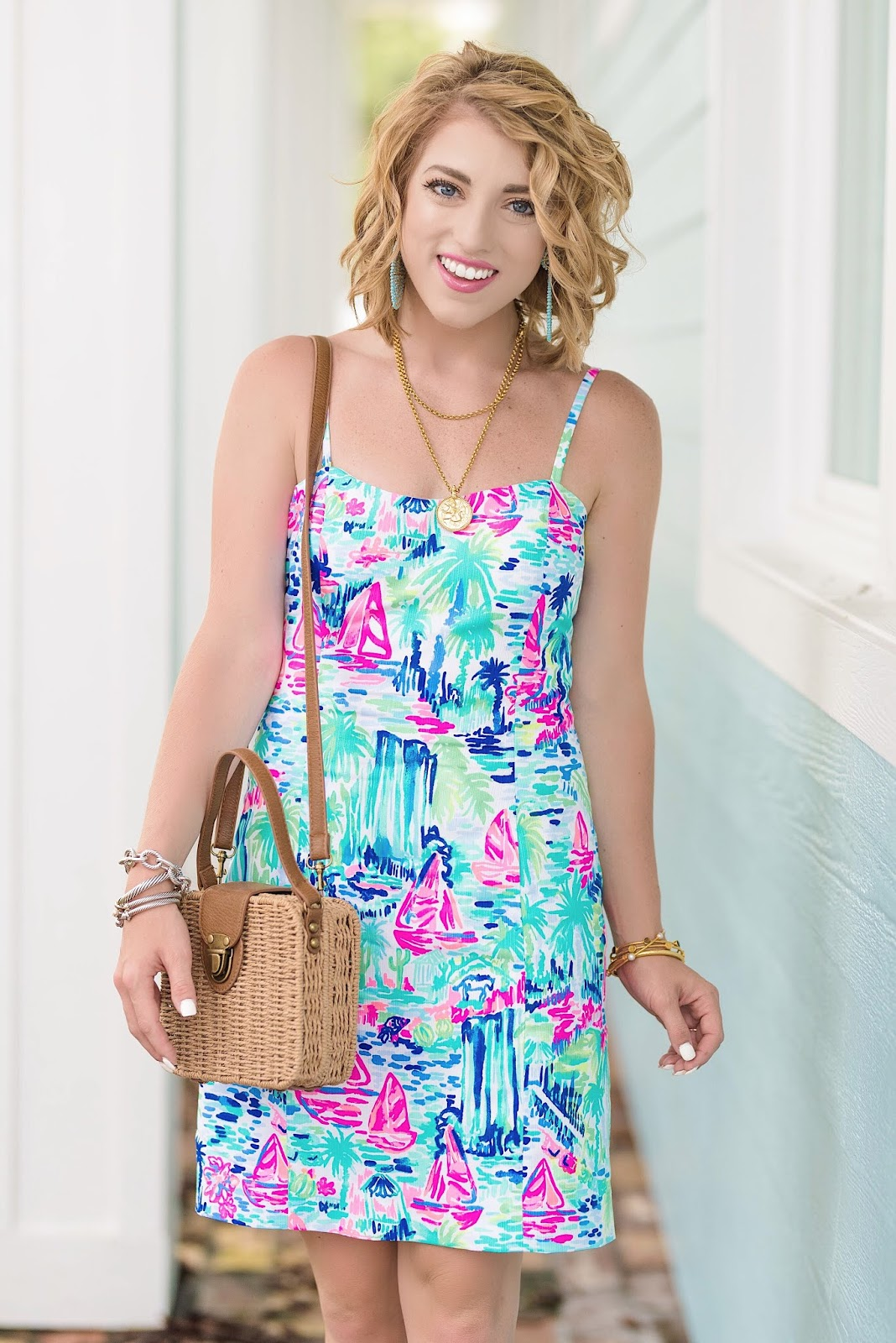 Lilly Pulitzer Shelli Stretch Shift Dress - Multi Salt in the Air - Something Delightful Blog