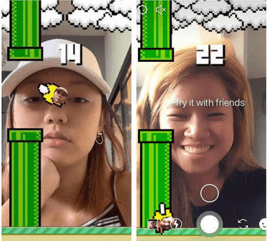 cara main game flying face kedip mata di instagram